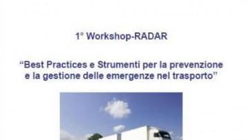 1° Workshop RADAR sulle emergenze nel trasporto